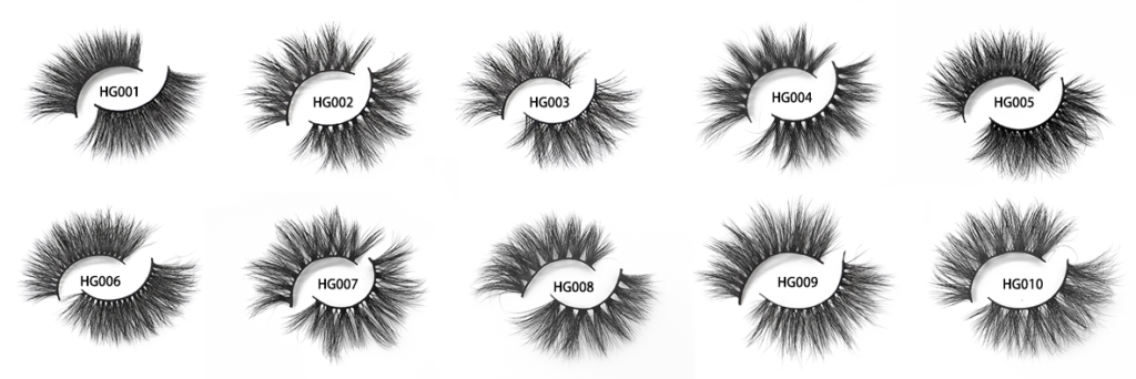 25 mm 3d mink eyelashes hg001-hg010