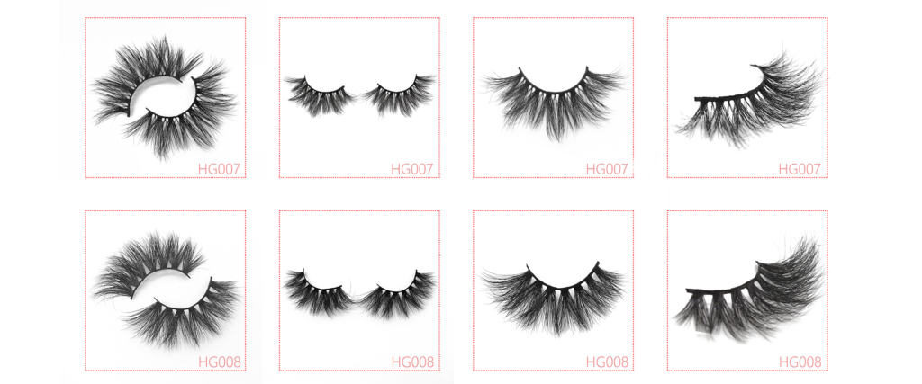 25mm 3d mink lashes HG007 HG008