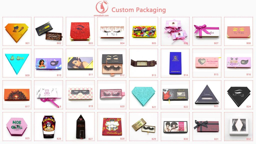 eyelash vendors emma lashes custom package