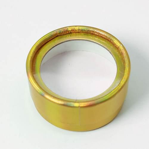 Gold glitter circle eyelash box