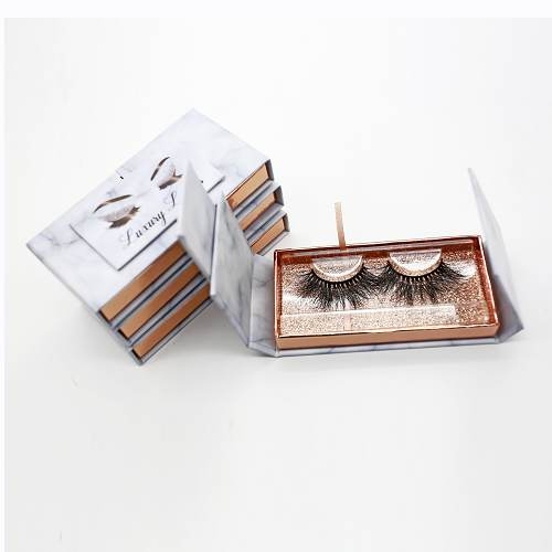 Wholesale marble eyelash packaging