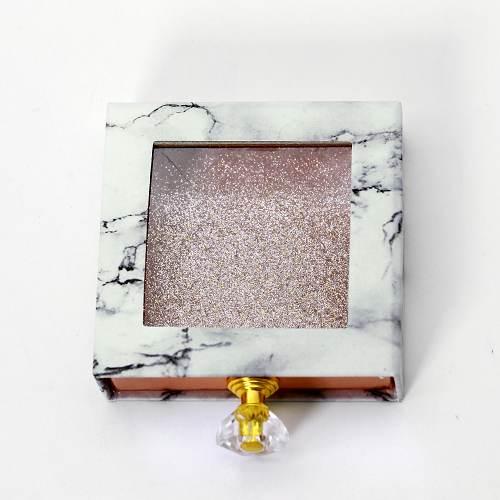 square eyelash box with handle