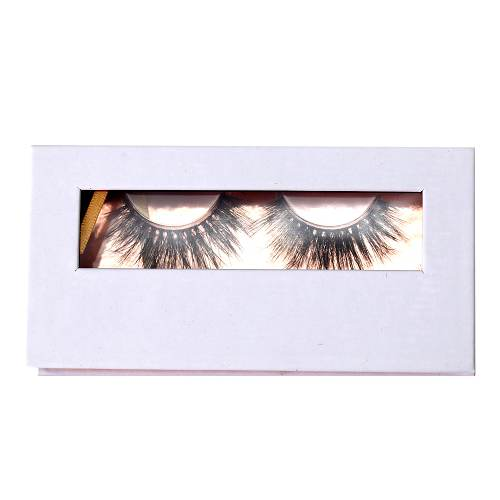 white eyelash packaging with window