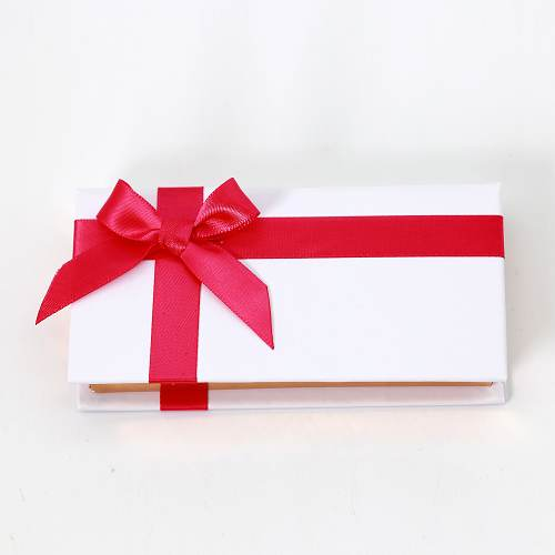 wholesale white box with red bow