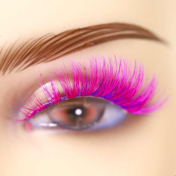Wholesale mink lashes colorful lashes CD34