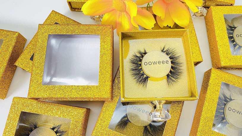 custom stickers for eyelash boxes